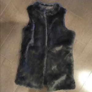 Gray Soft Fur Vest for Teens